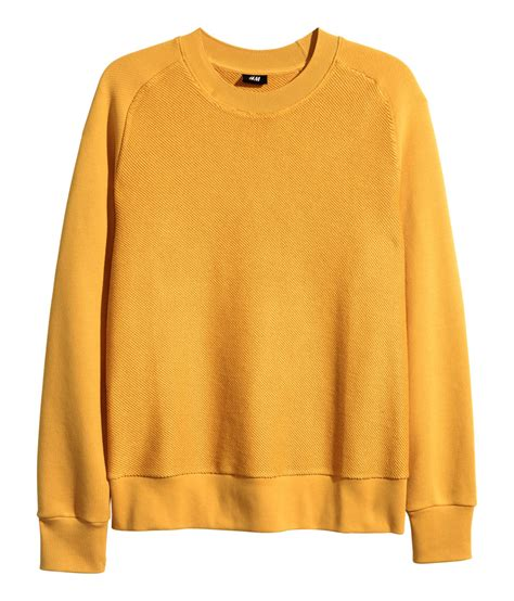 Hoodie H M By Imbong lyst h m sweatshirt in yellow for