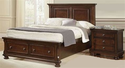 dark cherry bedroom furniture reflections dark cherry mansion storage bedroom set 534
