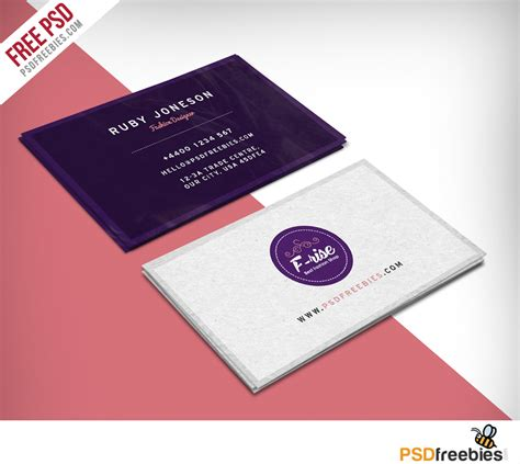 make visiting card free freebie fashion designer business card free psd on behance