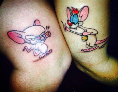 pinky and the brain tattoo 15 awesome couples tattoos pop culture edition ariel