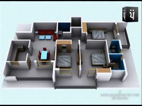 Free Tiny House Blueprints 3d walkthrough apartment interior youtube