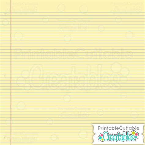 printable yellow notebook paper school notebook free digital paper pack