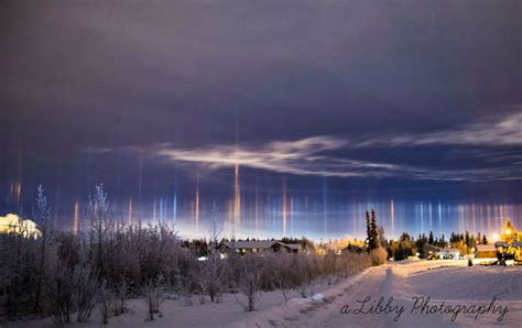 light pillars wordlesstech light pillars over alaska