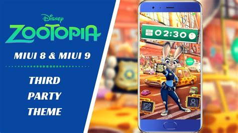miui themes from third party zootopia disney official third party theme for miui 8