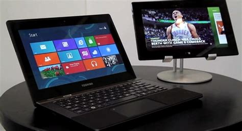 toshiba arm touchscreen laptop  windows  rt demoed