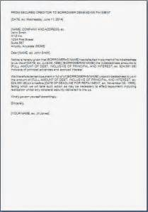 Default Notice Template by Payment Default Notice Template