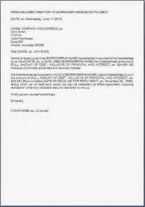 payment default notice template