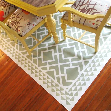 painting rugs diy dining room area rug painted linoleum reality daydream