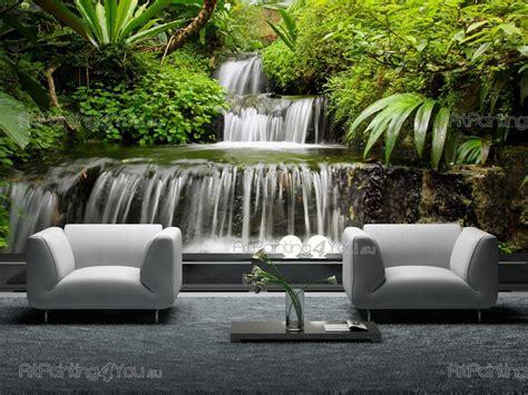 cascata giardino giardino cascata carta da parati poster mcca1035it