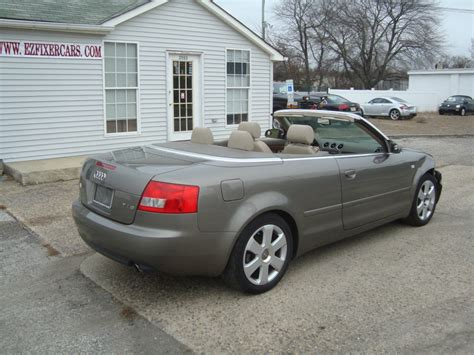 Audi A4 Convertible 2006 For Sale by 2006 Audi A4 1 8 Turbo Convertible Salvage For Sale