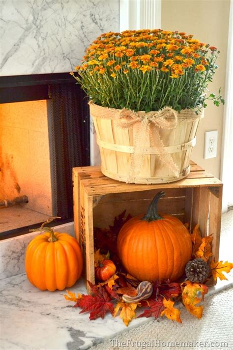 mantle decor 101 take a look at this fall fireplace
