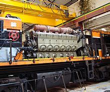 An emd 12 645e3 turbocharged two stroke diesel engine installed in