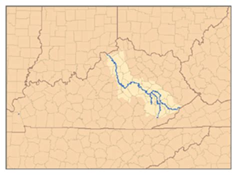 kentucky map with rivers kentucky river simple the free