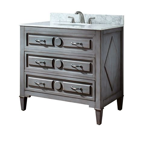 36 Inch Bathroom Vanity Cabinets 36 Inch Grayish Blue Vanity Only Avanity Vanities Bathroom Vanities Bathroom