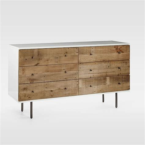 reclaimed wood lacquer 6 drawer dresser west elm