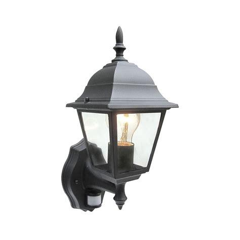 Traditional Outdoor Wall Lights Uk Power Master Black White Outdoor Traditional Pir Sensor Wall Lantern