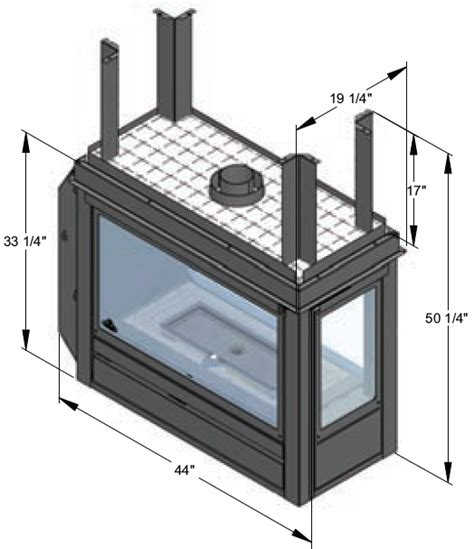 Sided Fireplace Price by J A Roby Mistral Peninsula Direct Vent By Obadiah S