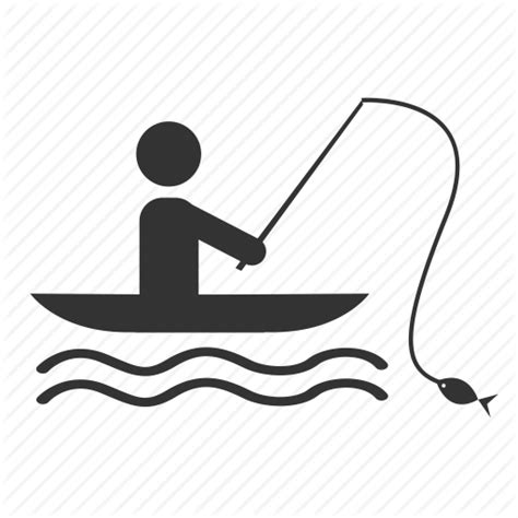 boat fishing icon recreation by supannee s