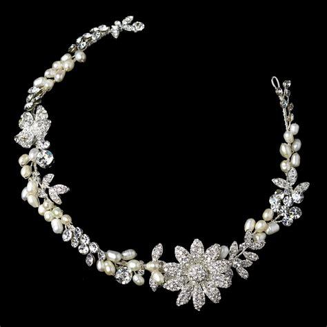 Rhinestone Headpiece freshwater pearl rhinestone bridal headpiece