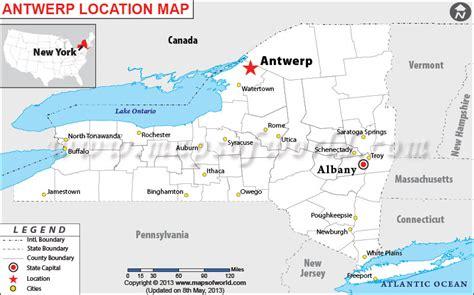 antwerp world map where is antwerp new york