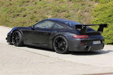 porsche gt2 2018 porsche 911 gt2 rs at the nurburgring