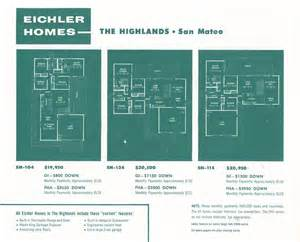 eichler plans eichler the house