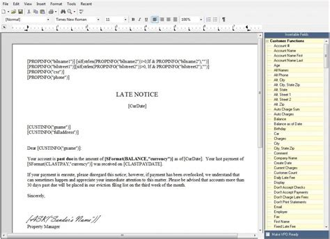 Rent Manager Letter Template How To Insertable Fields In Rent Manager