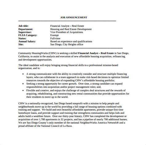 Resume Real Estate Investment Analyst Sle Financial Analyst Resume 11 Documents In Pdf Word
