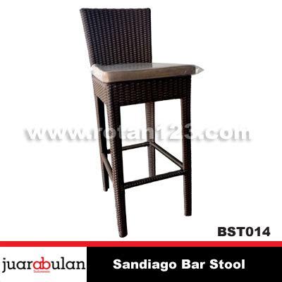 Kursi Cafe Rotan Sintetis harga jual sandiago bar stool kursi bar rotan sintetis