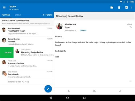 microsoft outlook for android outlook for android 28 images after acquiring mobile