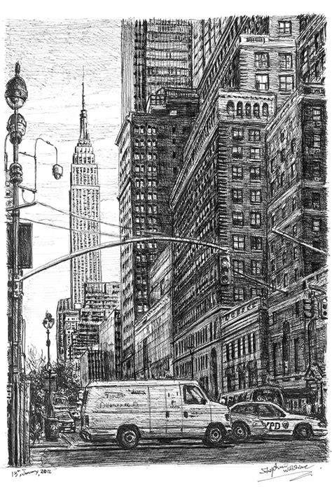 Street scene of 34th street New York - Original drawings
