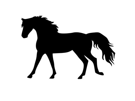 mustang horse silhouette horse silhouette galloping