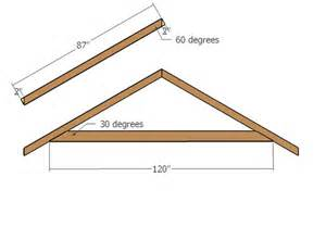 Gable Roof Truss Design 10x12 Gable Shed Roof Plans Howtospecialist How To