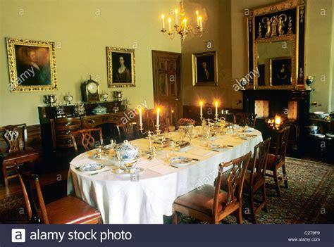 house speisesaal georgian dining room stockfotos georgian dining room