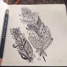 17 best images about art zentangle feathers on pinterest
