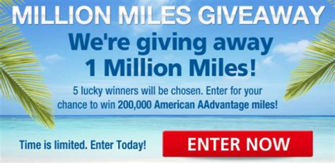 United Million Mile Giveaway - million miles giveaway sweepstakes 5 winners win 200 000 aadvantage miles
