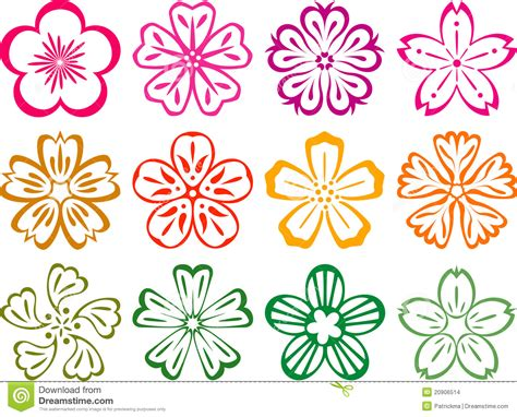 style flower flowers in style of japnese and chinese stock vector