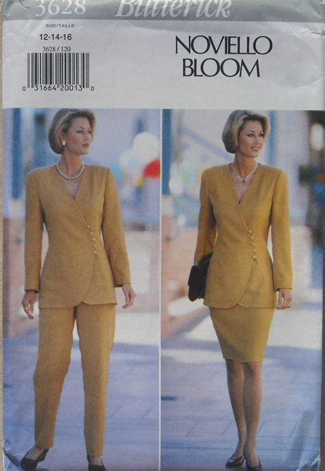 Simplicity Home Decor Patterns womens suit semi fitted top slightly tapered skirt tapered