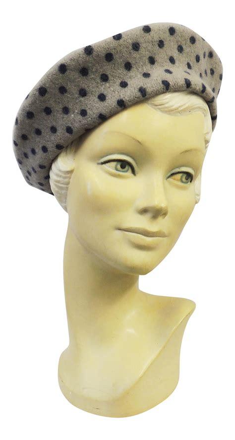 Oz Sweater Polka Abu new vintage wwii 1940s style homefront classic polka dot beret hat ebay