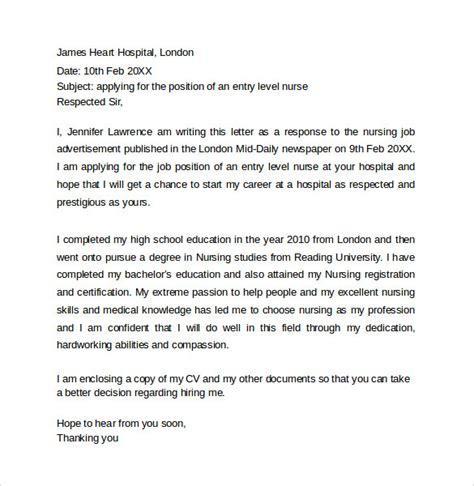 Cover Letter Recent Graduate by Simple Cover Letter Templates 8 Sles Exles Formats
