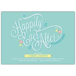 happily after bridal shower invitations paperstyle