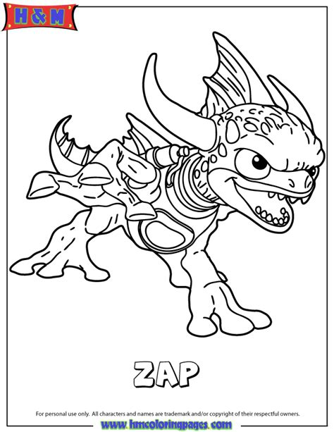 skylanders camo free colouring pages