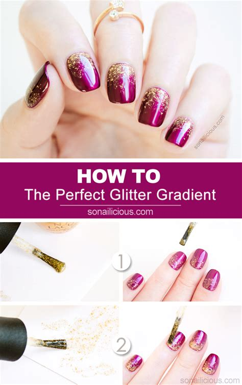 nail art tutorial how to create a glitter gradient using 2 genius tips for a perfect glitter gradient tutorial