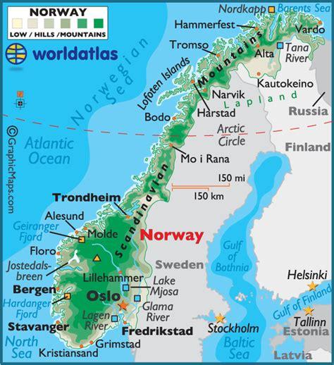 Norway Landforms Map