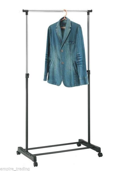 Free Standing Hanging Rack by Free Standing Hanging Clothes Rack Garment Rail Height