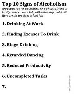 10 Warning Signs Of Alcoholism by Alcoholism