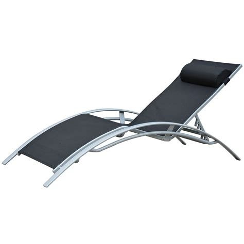 black and white chaise lounge outsunny patio reclining chaise lounge chair with cushion