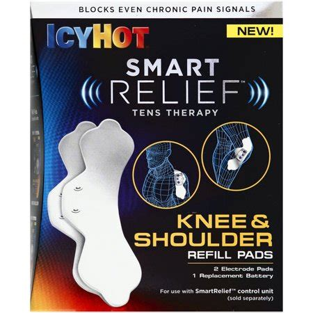 icy hot for knees icy hot smart relief tens therapy knee shoulder refill
