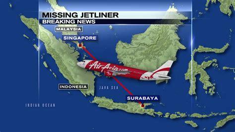 airasia flight status airasia indonesia flight bound for singapore loses