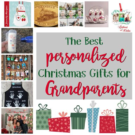 personalized holiday gifts for grandparents gathered in